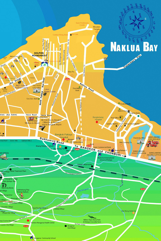 Pattaya Maps Pattaya Guesthouses Pattaya Guest Houses in ...